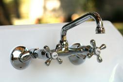 Double Handle Wall Mount Kitchen Faucet