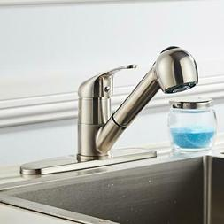 HOT Home Kitchen Faucet Pull Out Sprayer Single Hole Swivel
