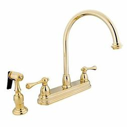 Kingston Brass KB3752BLBS 8 Inch Center Kitchen Faucet With