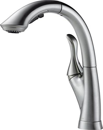 delta faucet 4153-ar-dst linden single-handle kitchen sink