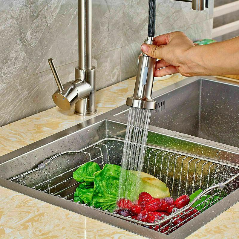 Kitchen with Pull Down Handle Spring Brushed
