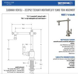 Waterstone Towson Hot Drinking Water Dispenser Filter Faucet